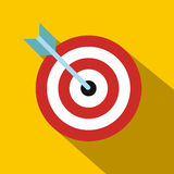 Target with dart flat icon Stock Images