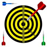 Target dart icon. Template vector design advertising. Target dart icon. Template vector design for business goal, advertising, shooting target marketing Royalty Free Stock Photos