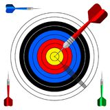 Target dart icon. Template vector design advertising. Target dart icon. Template vector design for business goal, advertising, shooting target marketing Royalty Free Stock Images