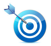 Target and dart illustration design Stock Photos