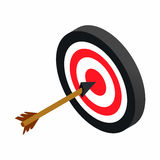 Target with dart isometric 3d icon Stock Photography