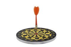Target dart with red arrow isolated on white background Royalty Free Stock Images