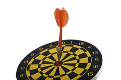 Target dart with red arrow isolated on white background Royalty Free Stock Image
