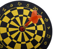 Target dart with red arrow isolated on white background Royalty Free Stock Photography