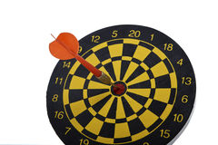 Target dart with red arrow isolated on white background Stock Photography