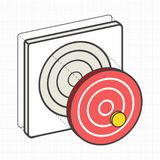 Target dartboard digital creative graphic Stock Image
