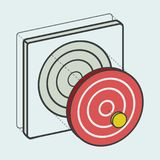 Target dartboard digital creative graphic Stock Photography