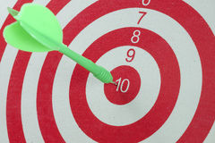 The target of the dartboard Stock Image