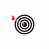 Target - dartboard vector with arrow Royalty Free Stock Image