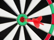 Target with darts. Bull's-eye Royalty Free Stock Photo