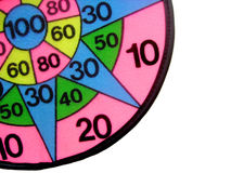 Target for darts. Close up. Isolated children's color target for game in a darts Stock Image