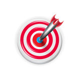 Target with darts aiming on the center isolated Stock Images