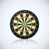 Target for darts arrow. Vector illustration of dart board with reflection  on white background.  Stock Images