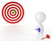 Target, Darts and Character - Good Royalty Free Stock Photo