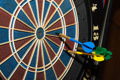 Target with darts Royalty Free Stock Image