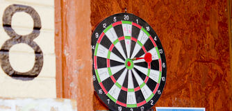 Target with darts. Competition in throwing darts at the target Stock Photography