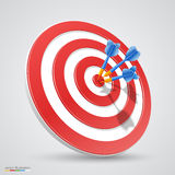 Target with darts Stock Photography