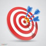 Target with darts Stock Photos