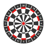 Target for darts game with score points around Stock Images