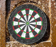 Target for darts on a summer day. Target for darts on a bright summer day royalty free stock photos