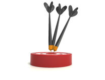 Target with darts, Target 3d icon Stock Images