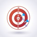 Target with darts royalty free illustration