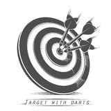Target with darts vintage tattoo Stock Image