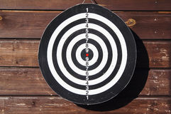 Target for a darts on a wall Royalty Free Stock Photos