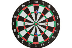 Target darts white backgound. Target darts player meditation and visualization on white background Royalty Free Stock Photos