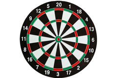Target darts white backgound. Target darts player meditation and visualization on white background Stock Images