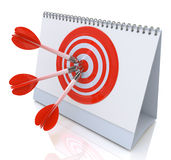 Target Date. In the design of the information related to the purposes of abstraction Stock Image