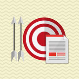 Target design. arrow icon. Colorfull illustration, graphi. Target concept with icon design, illustration 10 eps graphic stock illustration
