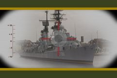 On target destroyer Stock Photos