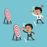 Target di riferimento differente di concetto di affari fra il capo di affari e l'uomo d'affari Fotografie Stock