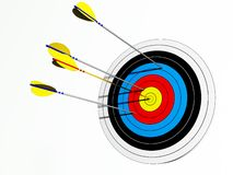 Target with different arrows Royalty Free Stock Photos