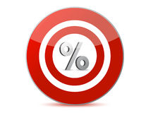 Target discounts percentage sign Royalty Free Stock Images