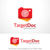 Target Document Logo Template Design Vector Royalty Free Stock Photos