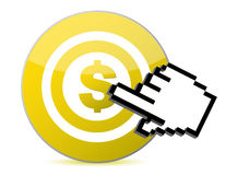 Target with dollar currency sign Stock Images