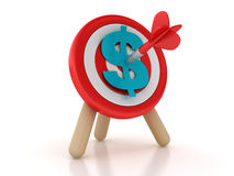 Target with Dollar Sign Stock Photo