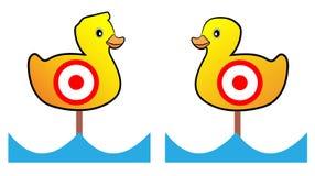 Target duck shooting range. Two Target duck shooting range Stock Photo
