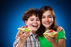target3582_1_ dzieciak zdrowe kanapki Fotografia Stock