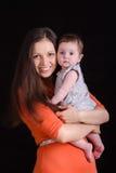 TARGET688_1_ dziecka szczęśliwa matka obraz stock