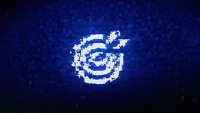 Target Emblem Pictogram Symbol Digital Pixel Noise Error Animation. Target Emblem Pictogram Symbol Abstract Digital Pixel Noise Glitch Error Video Damage Signal royalty free illustration