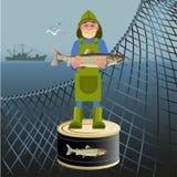 target2526_1_ etc rybiego rybaka ilustracyjnego loga ładny wektor ilustracja wektor