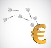 Target euro currency illustration design Royalty Free Stock Photo