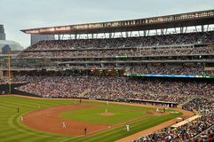 Target Field. MINNEAPOLIS - JULY 30:  Target Field, home of the Minnesota Twins, as seen on July 30, 2010 in Minneapolis Stock Image