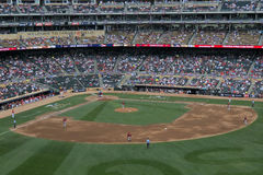 Target Field - Futures Game. MINNEAPOLIS - JULY 13: The All Star Futures Game, between the USA team and the World team, at Target Field on July 13, 2014, in Royalty Free Stock Image