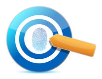 Target and fingerprint illustration design Stock Photo