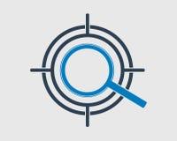 Target Fixing Icon. On gray background stock illustration
