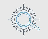 Target Fixing line Icon. On gray background royalty free illustration